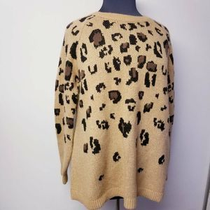 Isabel Maternity Ingrid Sweater Leopard XXL New